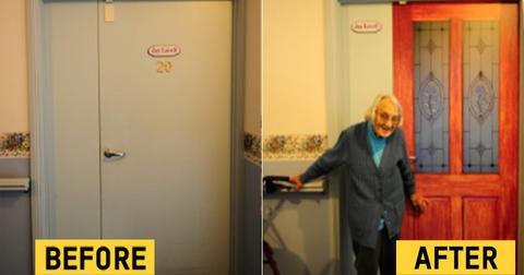 """How """"true doors"""" decals help people with dementia"""