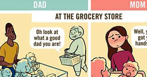 Comic perfectly nails how moms and dads are treated differently in public