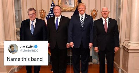 Twitter is giving this photo of President Trump hilarious boy band names