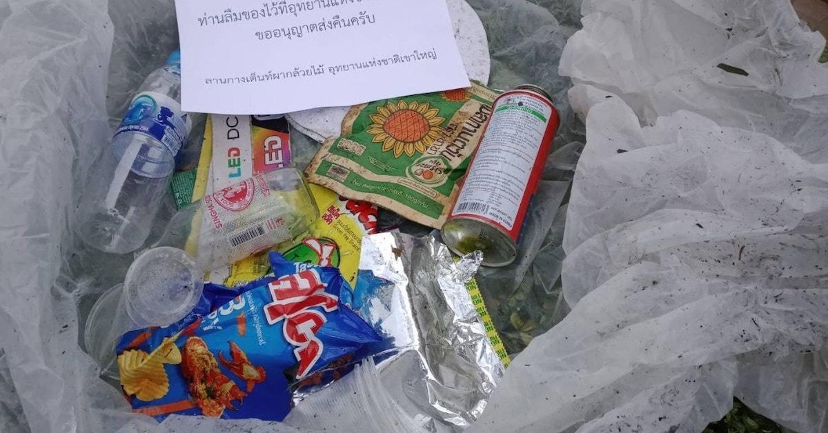 thai national park litter