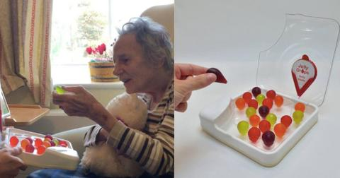 Man invented edible water jellies that resemble candy to help hydrate dementia patients