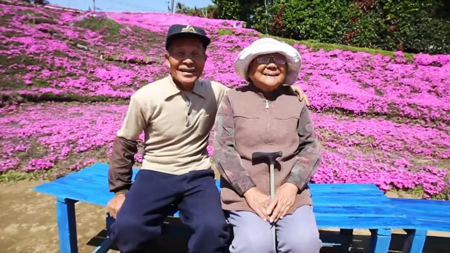 Husband spends years planting thousands of fragrant flowers for his blind wife