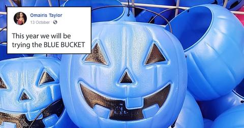You might see blue trick or treat buckets this Halloween, here's what it means