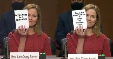 featured amy coney barrett notepad memes