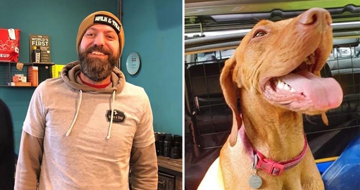 Guy sets up a dog-walking group to help men talk about depression